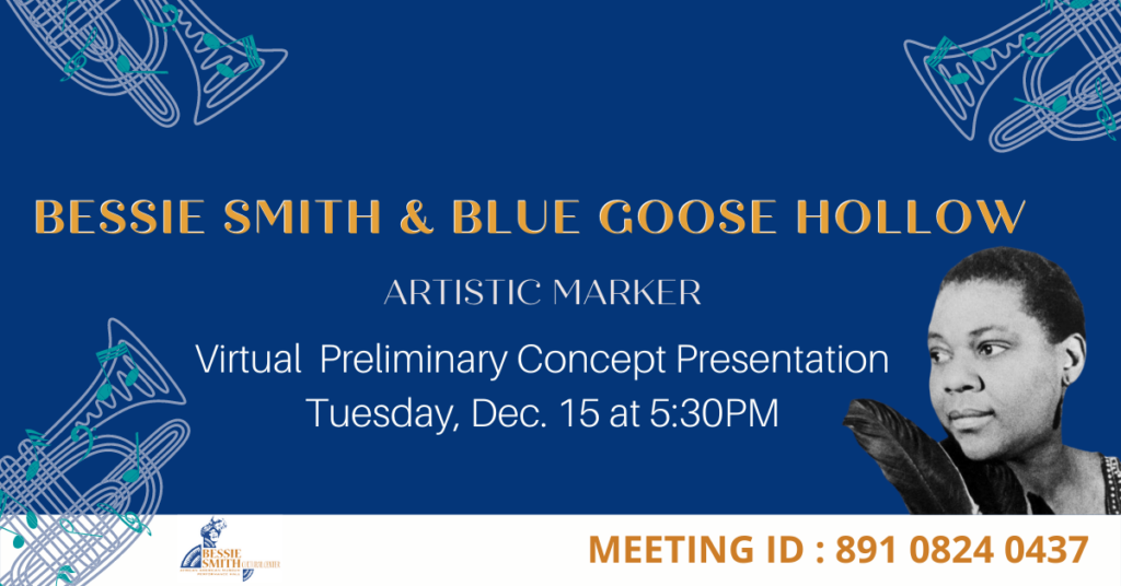 Bessie Smith & Blue Goose Hollow Preliminary Concept FB Event
